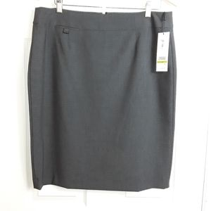 NWT Calvin Klein Charcoal  skirt